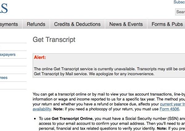 IRS Get Transcript service_1889