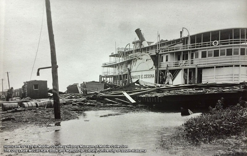 Hurricane of July 5, 1916 in Mobile- USA Archives
