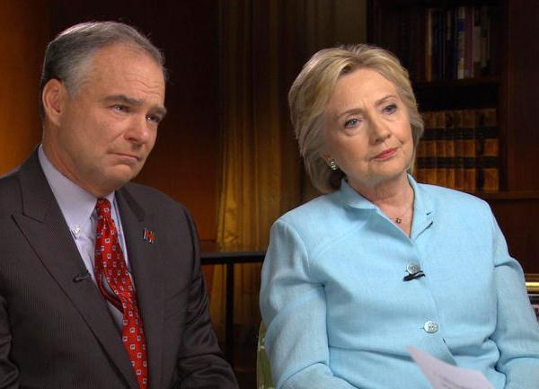 Hillary Clinton and Tim Kaine_224077