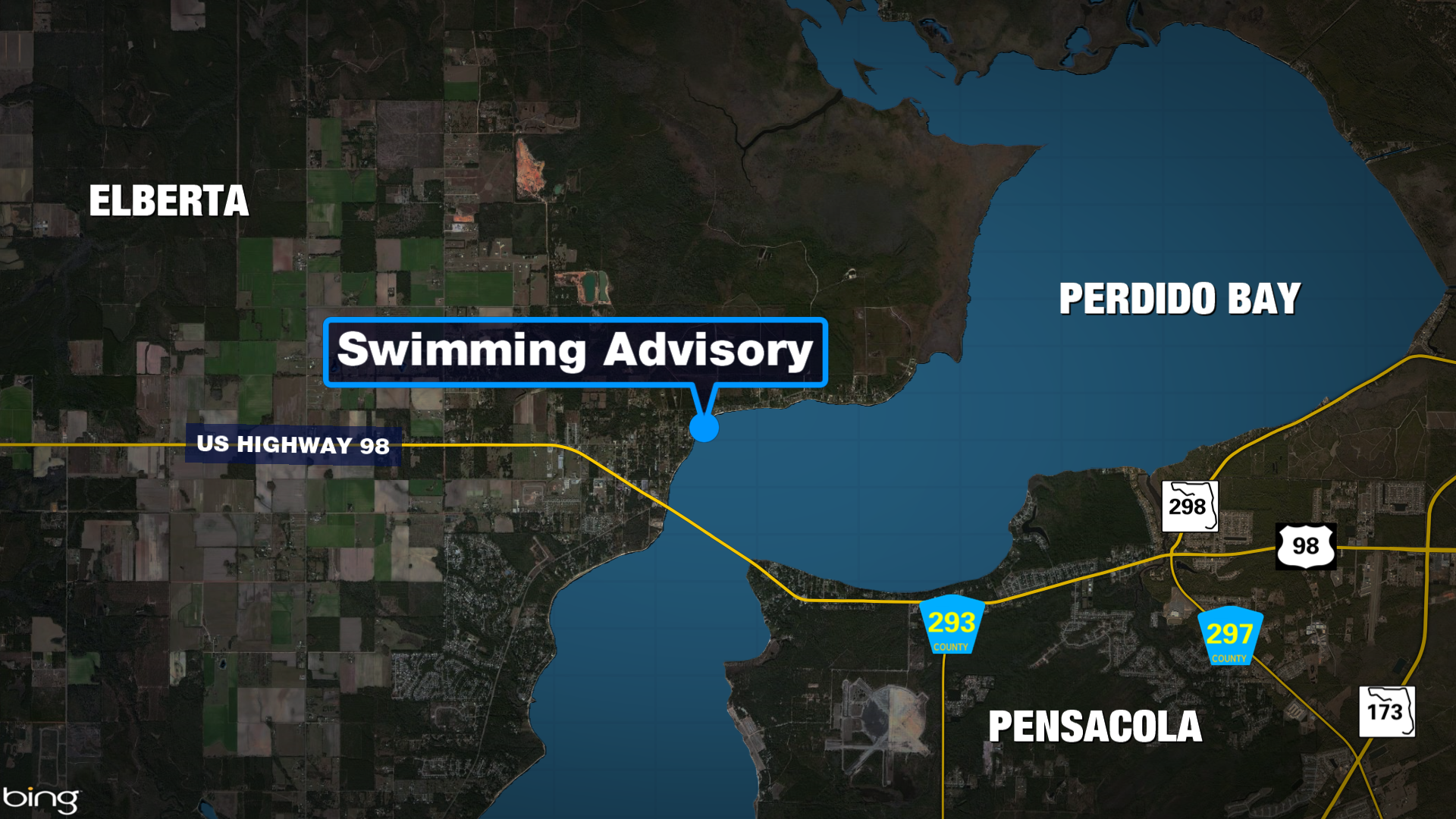 Public Swimming Advisory issued for Baldwin County waters