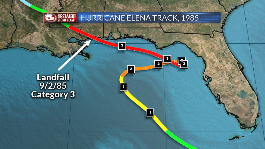 Hurricane Elena Track in 1985_239743