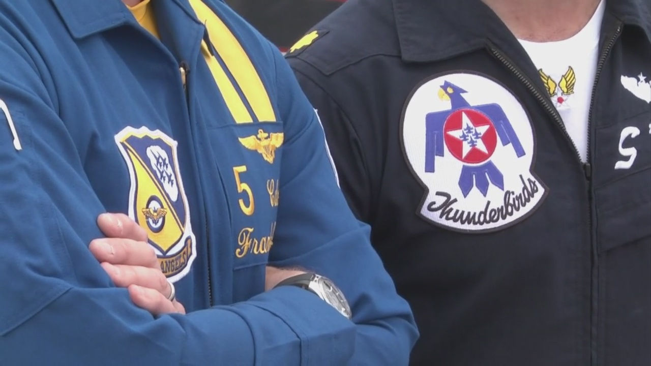 Blue Angels, Thunderbirds Meet Up In Pensacola Skies