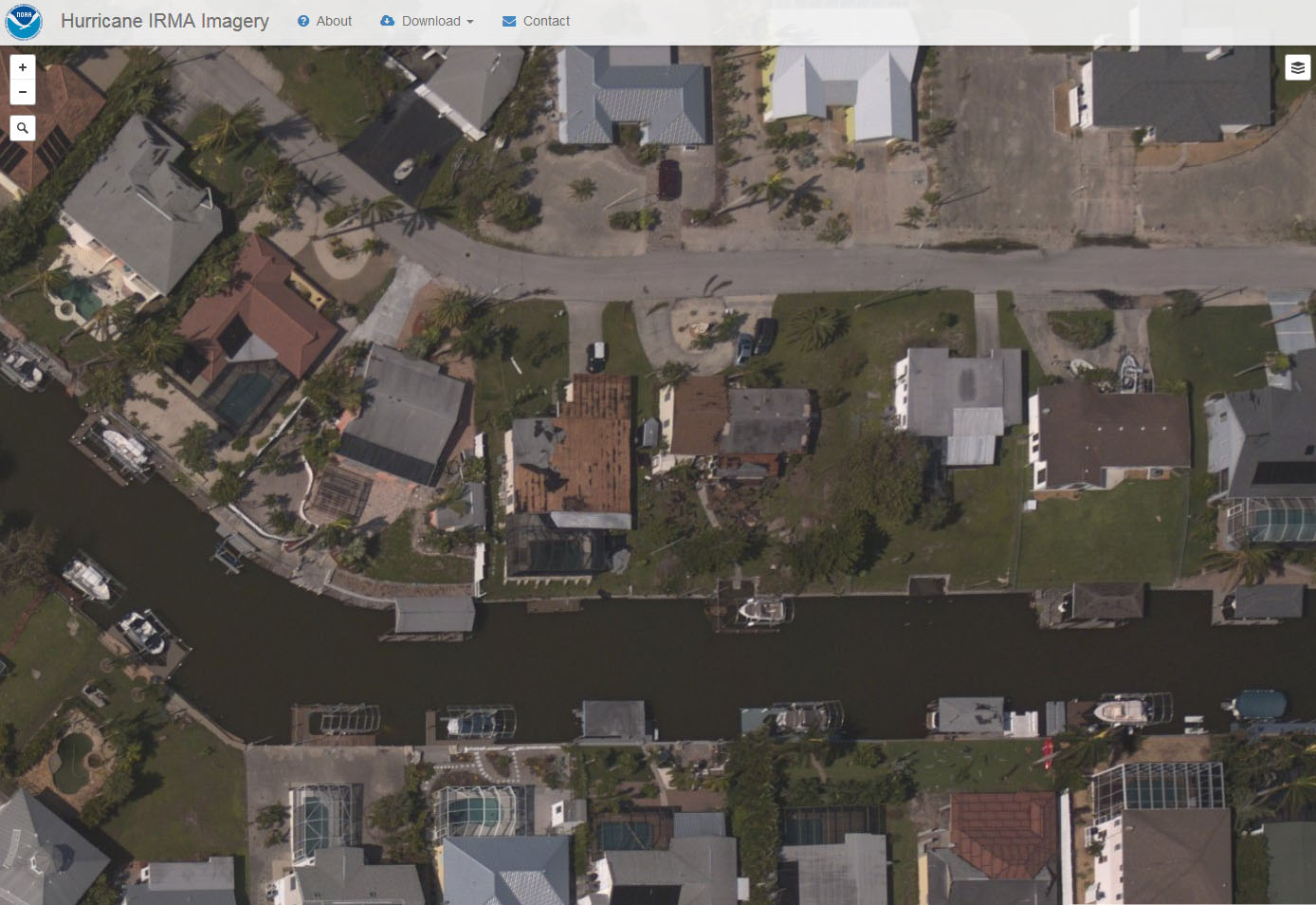 NOAA Irma aftermath aerial in Florida