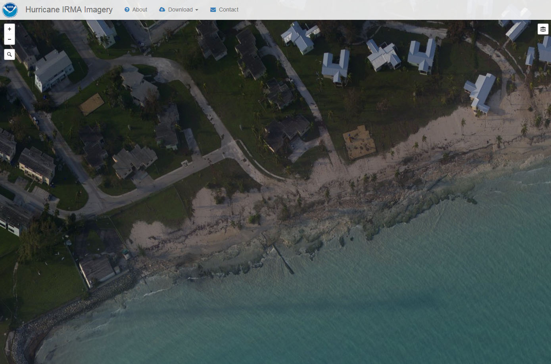 NOAA Irma aerial aftermath in Key West.