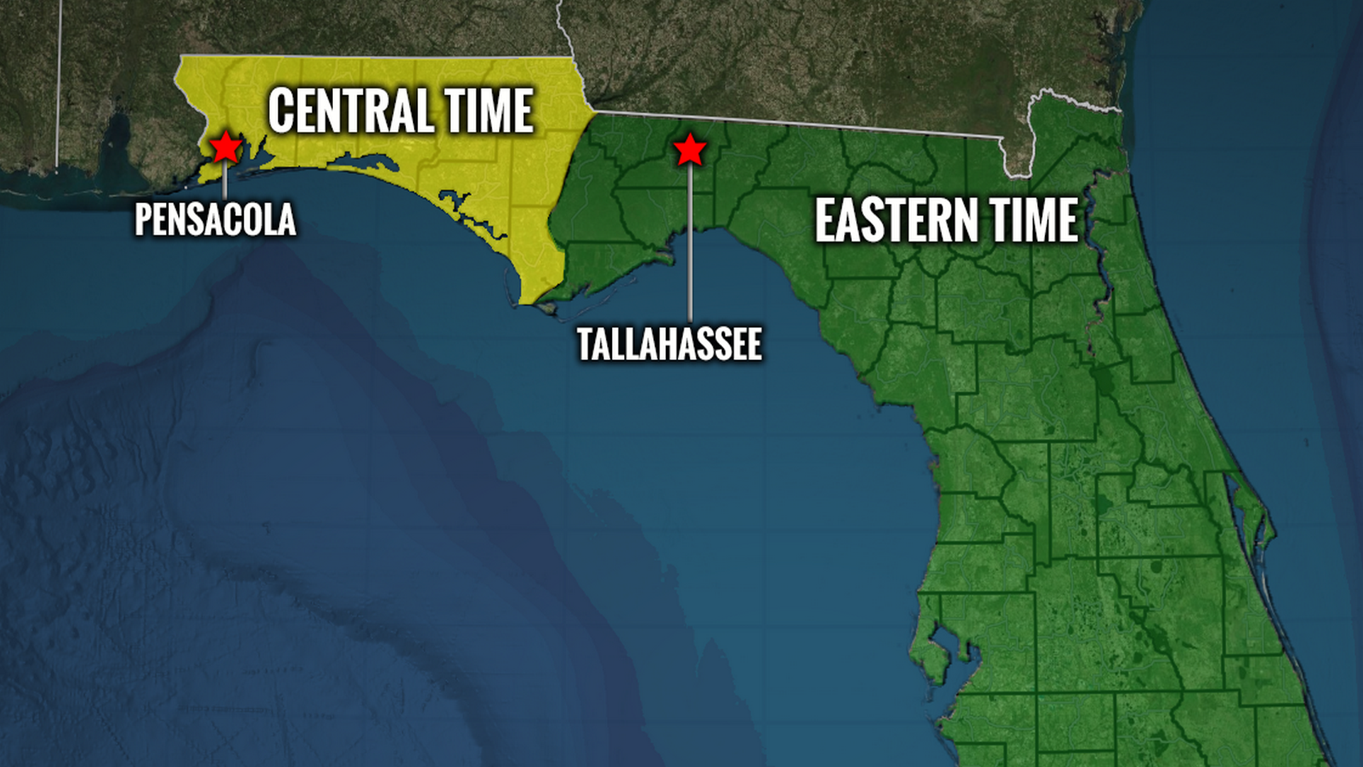 Florida Time Zone Map Northwest Florida in Eastern time zone? Bills would unify state