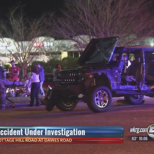 Wreck sends one person to the hospital