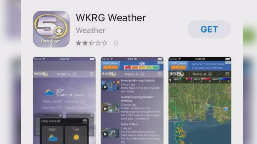 How to download the WKRG Weather app