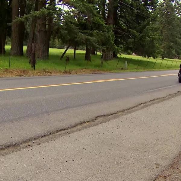 FISHING LINE STRUNG ACROSS ROAD CUTS MOTORCYCLIST