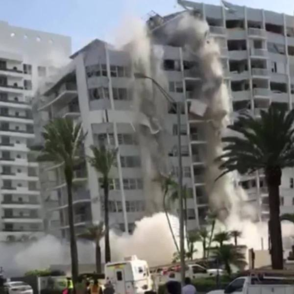 WATCH: Miami building collapse caught on camera