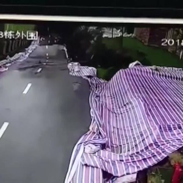 WATCH: Road collapses as rains, landslides batter China