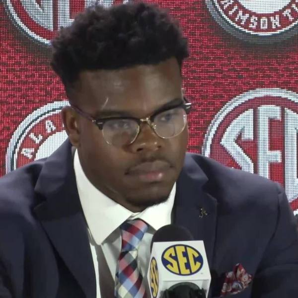 Watch what Alabama RB Damien Harris had to say at SEC Media Days 2018