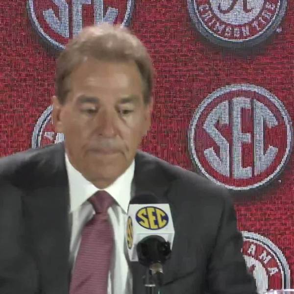 Watch what Alabama head coach Nick Saban had to say at SEC Media Days 2018