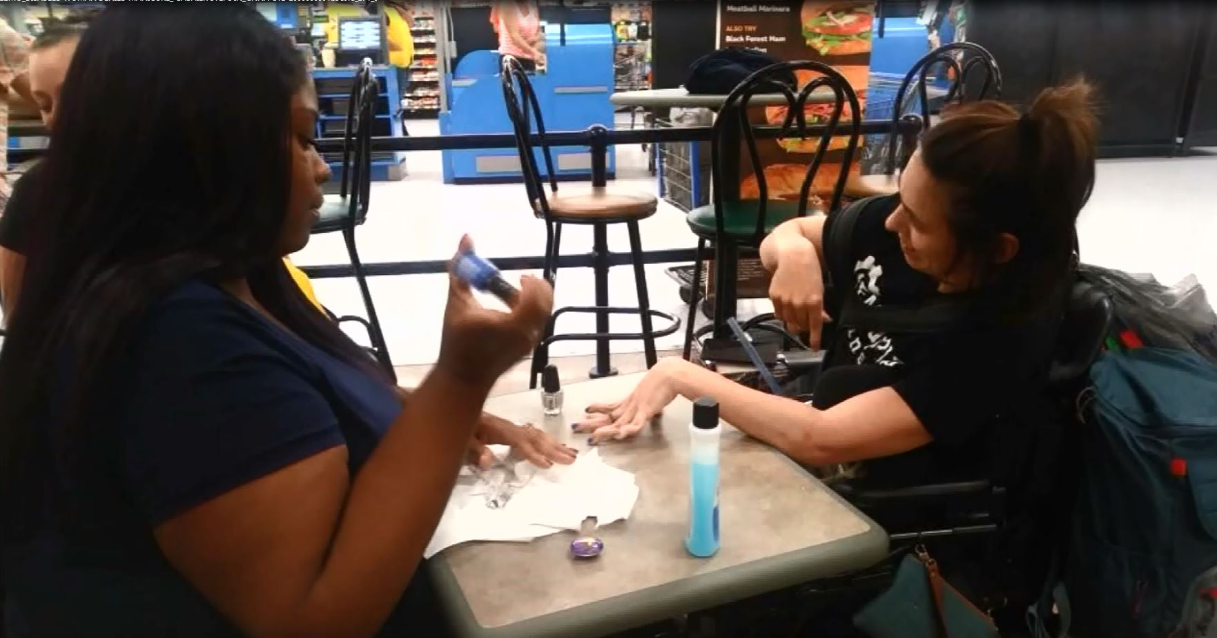 Walmart employee steps in when nail salon turns away woman with cerebral palsy