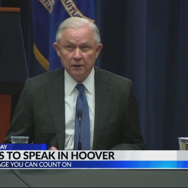 Attorney General Jeff Sessions speaks in Hoover on safety