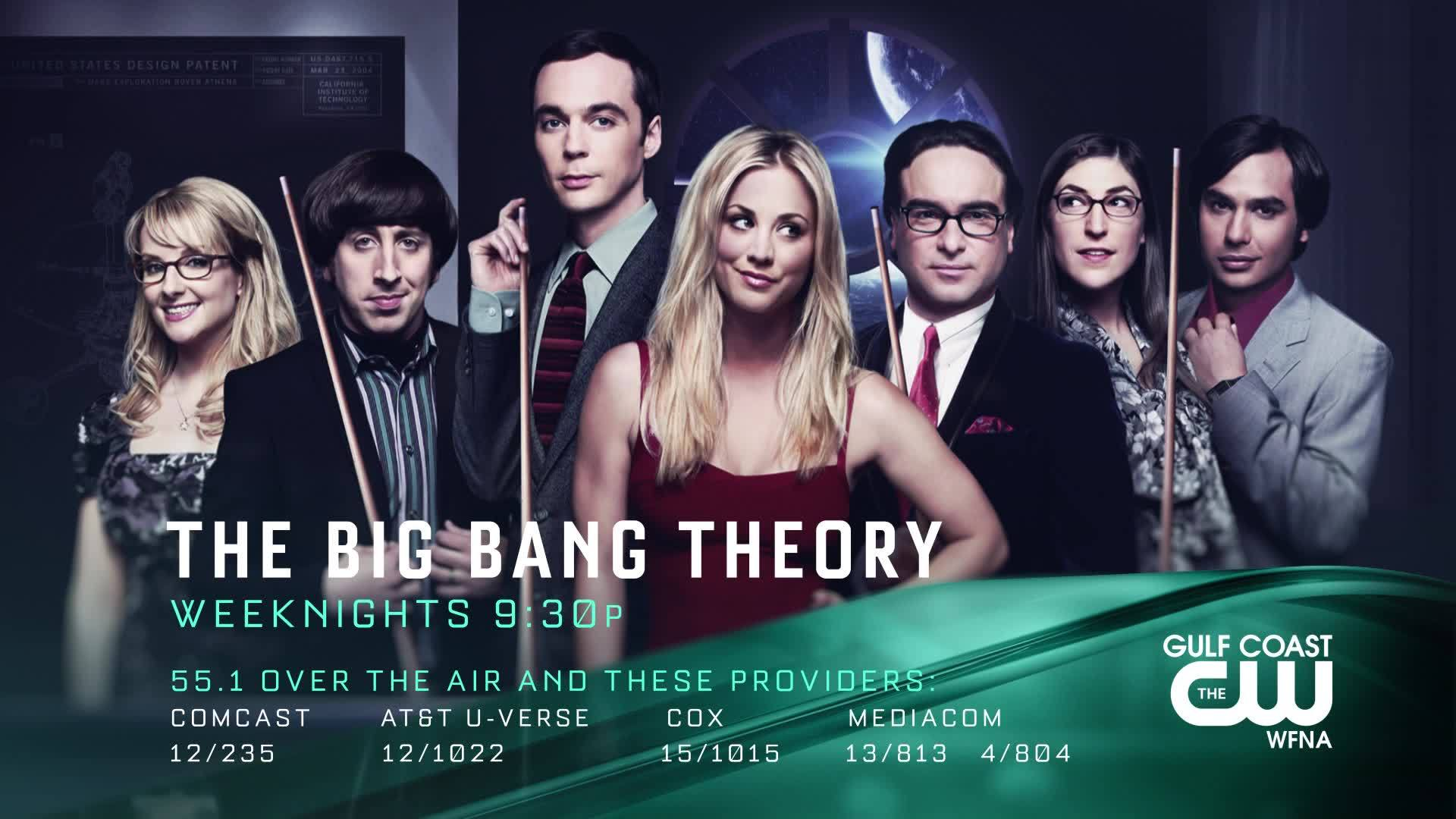 Big Bang Theory Now on The Gulf Coast CW!
