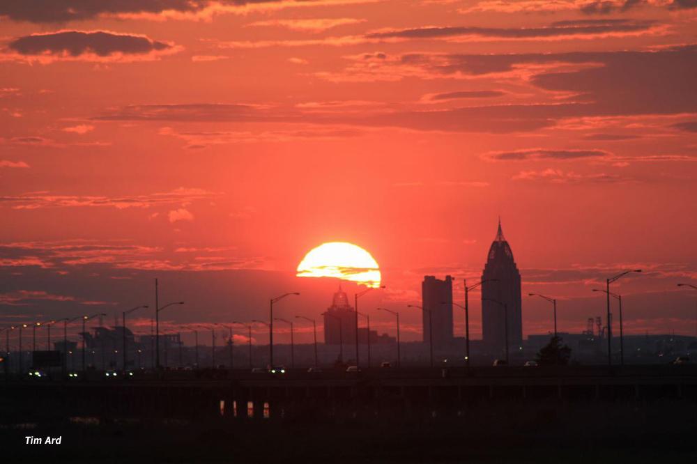 Sunset on Mobile skyline_4182