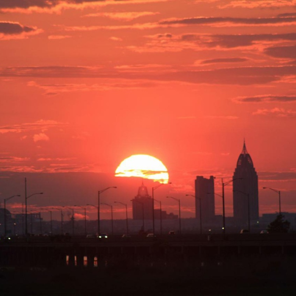 Sunset on Mobile skyline_4182
