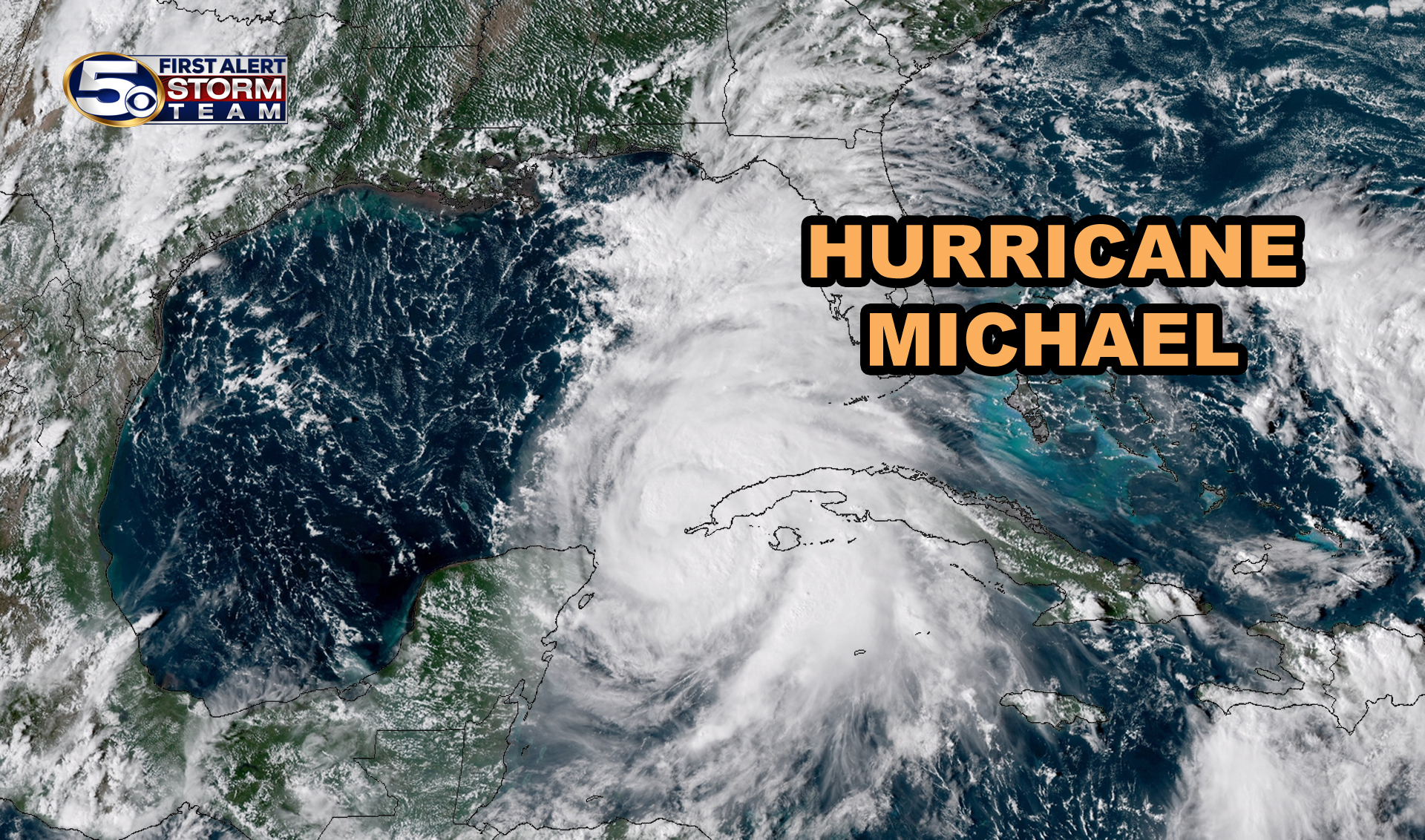 Hurricane Michael near Cuba
