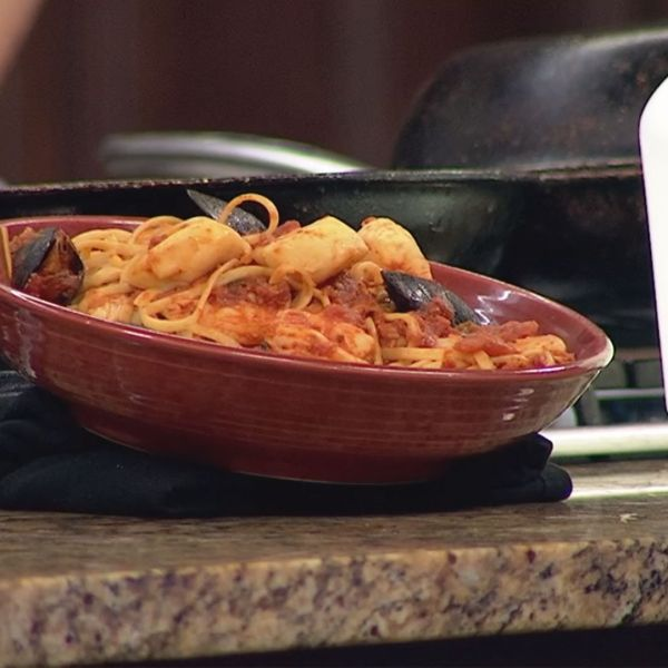 Cooking with John: Shrimp and Scallop Linguine Alla Vodka