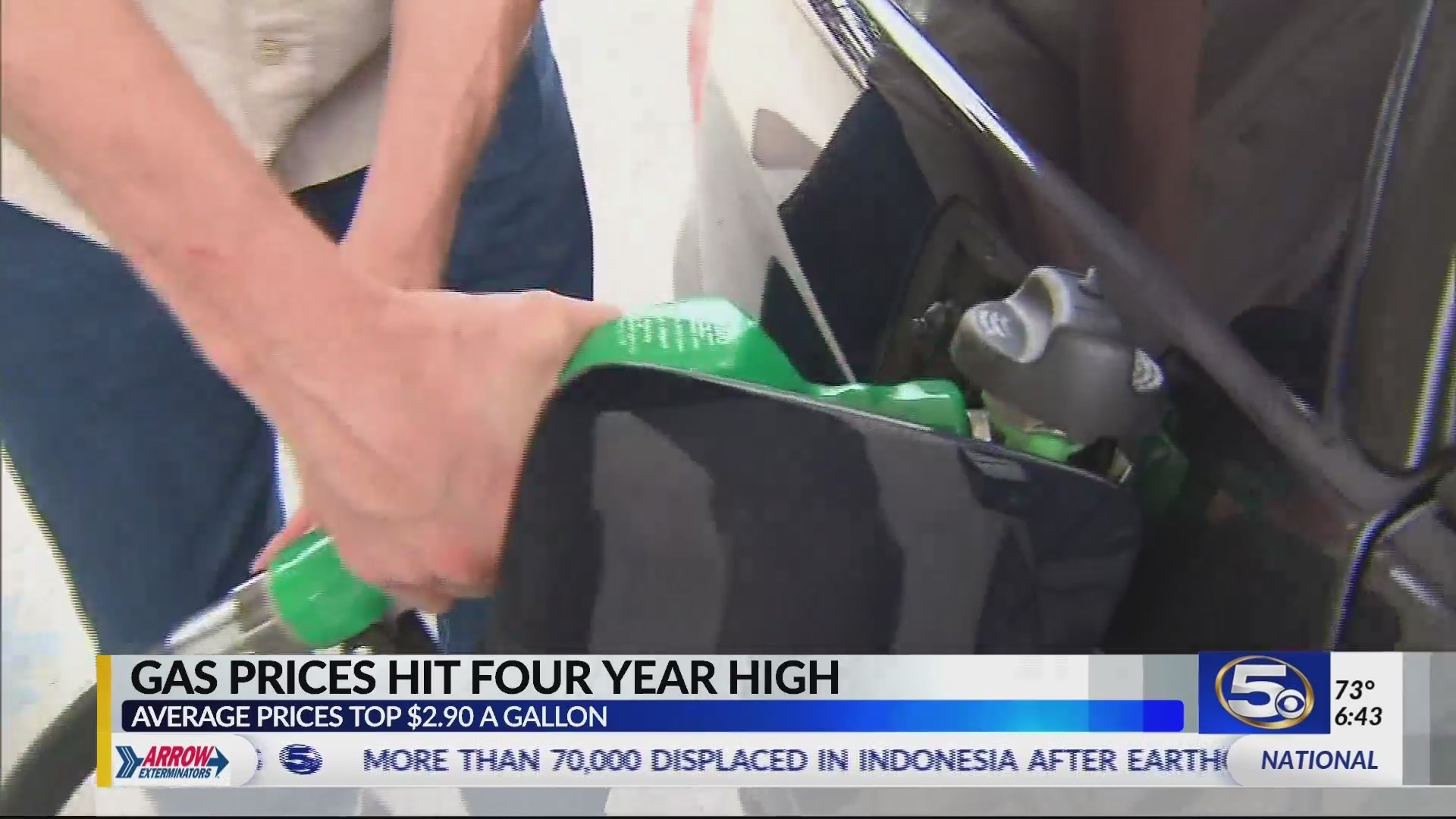 Gas prices hit four year high
