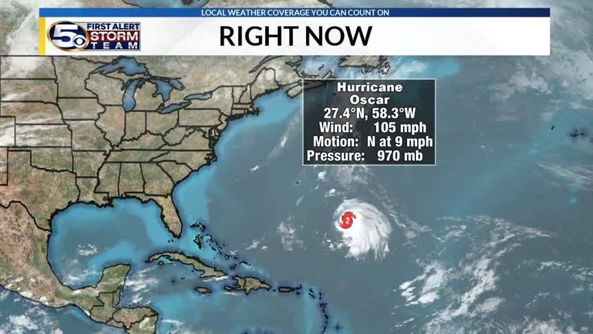 Hurricane Oscar is a Category 2