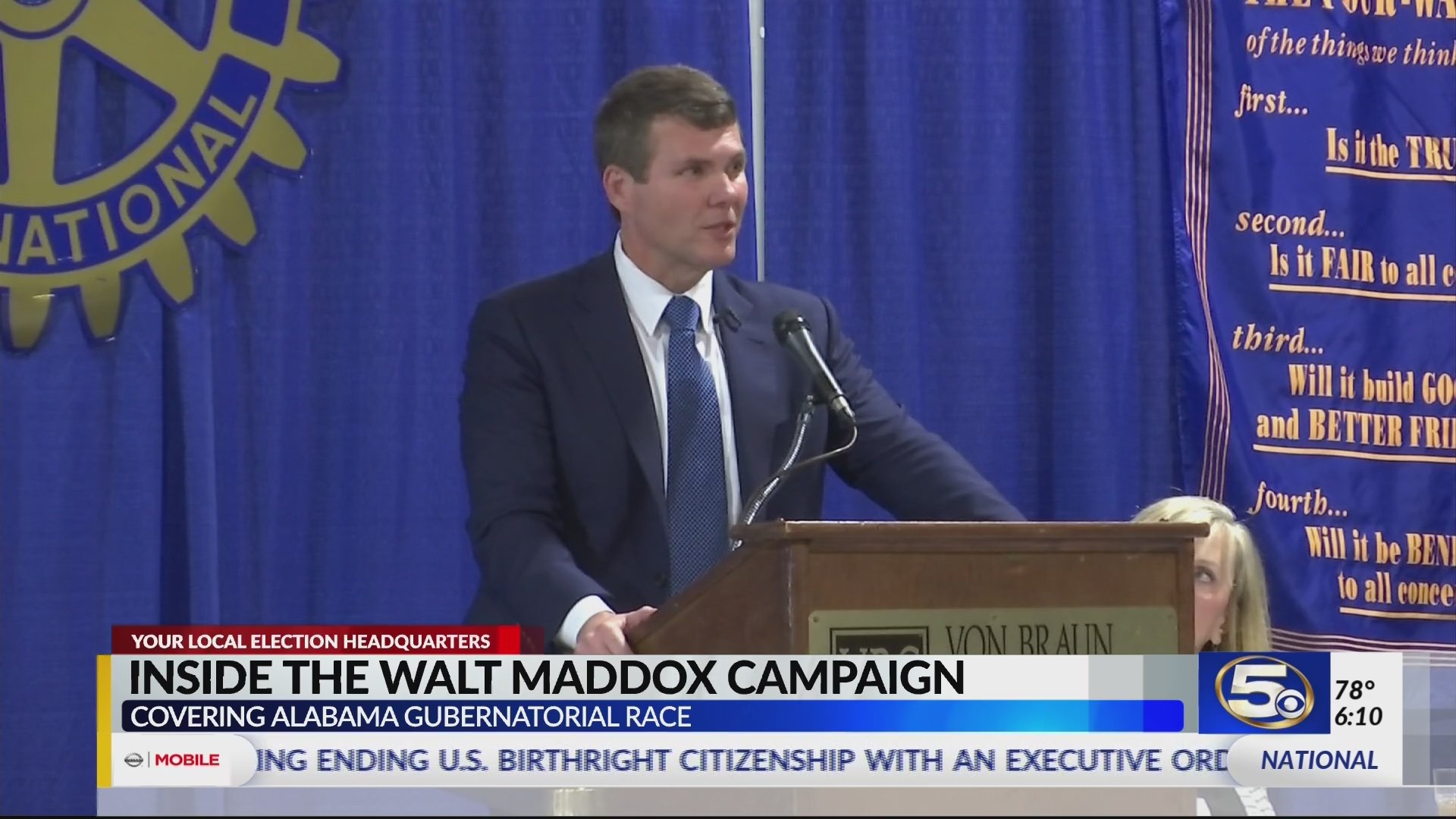 Walt Maddox continues campaign trail in Huntsville