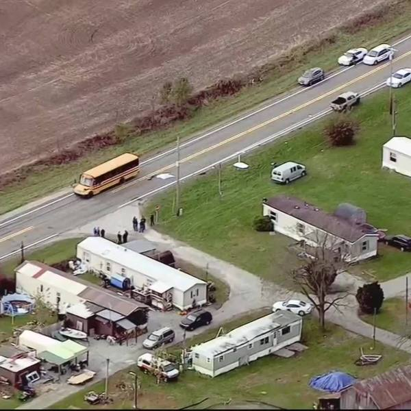 3 CHILDREN KILLED, 1 INJURED AT BUS STOP