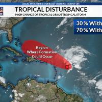 Tropical Disturbance 11-11 10 PM
