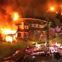 VIDEO: 3 escape massive Arizona mansion fire
