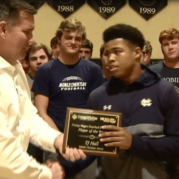 Video: Mobile Christian senior wins Week 11 Player of the Week award