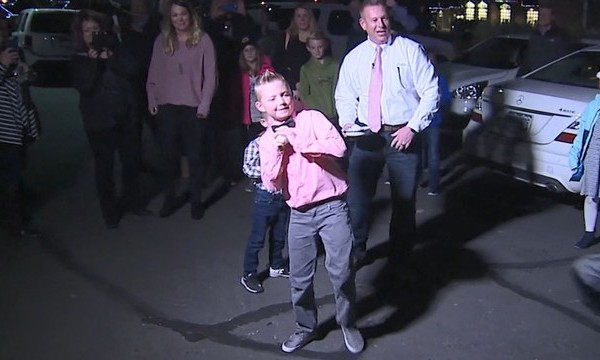VIDEO: 9-year-old convinces town to lift snowball ban