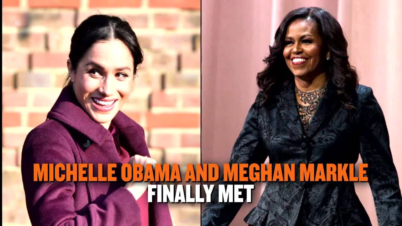 Michelle Obama and Meghan Markle have finally met and we're dishing on some of the important topics they discussed.