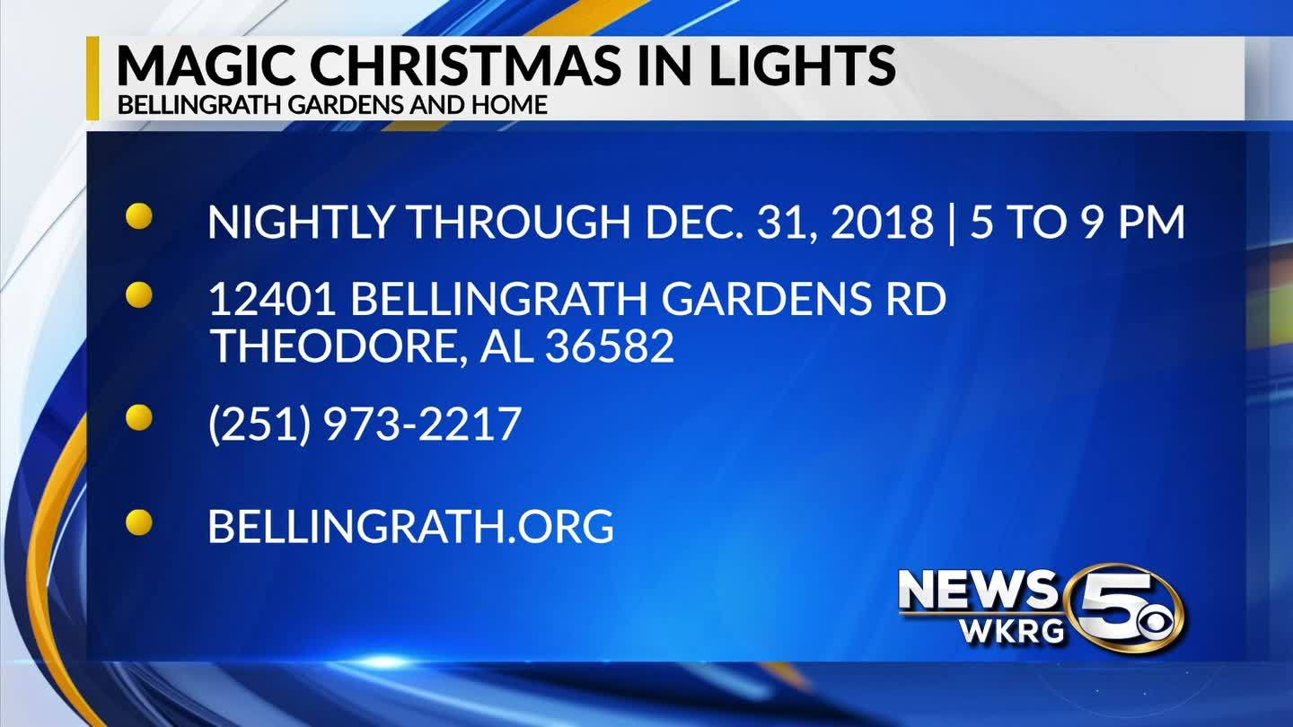 Magic Christmas in Lights now at Bellingrath Gardens and Home