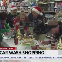 Magical Christmas Toy Drive shopping spree with Rich's Car Wash