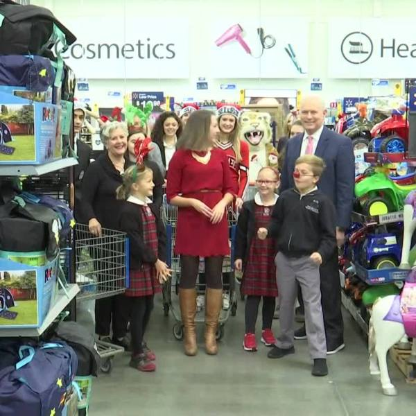 VIDEO: St. Luke's Episcopal School shops for the Magical Christmas Toy Drive