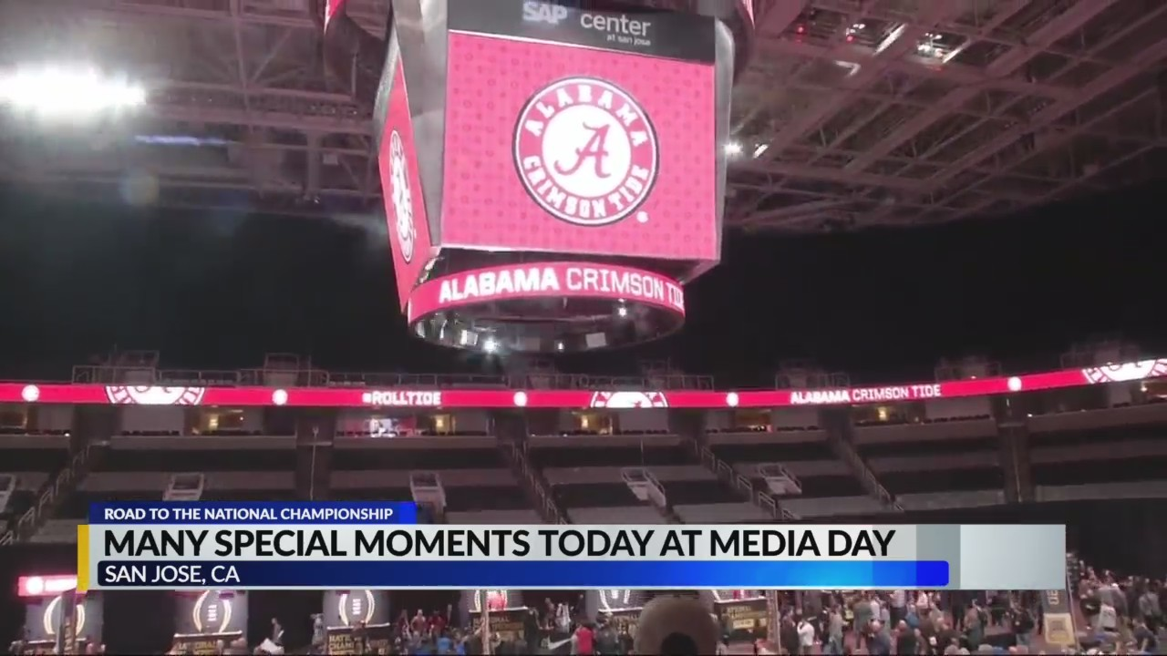 Make a Wish kids at Media Day for National Championship