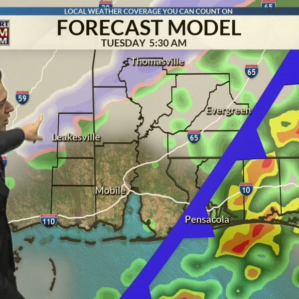 Mild Monday with wintry potential Tuesday