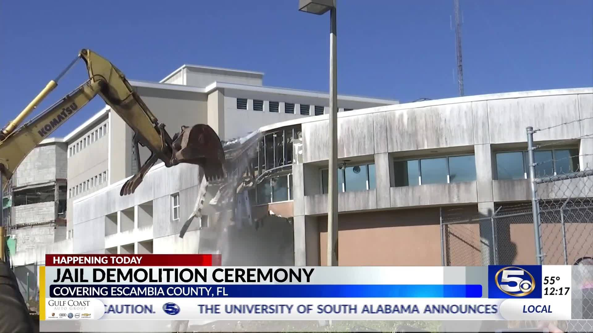Demolition of Escambia Co  jail begins years after deadly