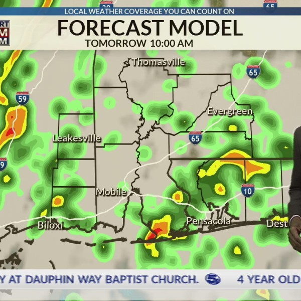 Rain and thunderstorms that may get strong, tomorrow