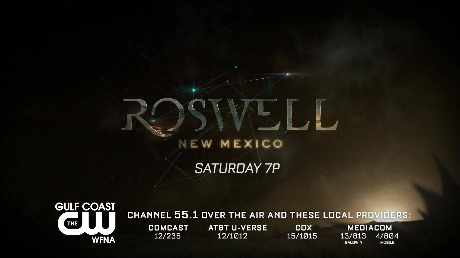 Catch encore episodes of the first two episodes of Roswell, New Mexico this Saturday at 7PM on The GCCW!