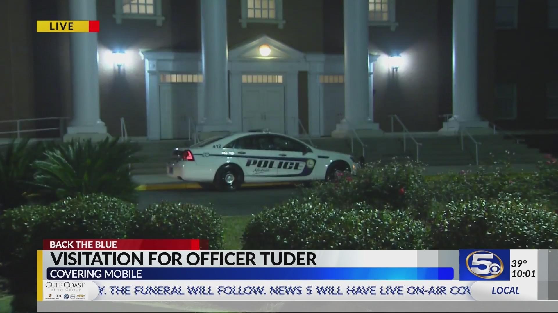 Visitation underway for fallen Mobile Police Officer Sean Tuder