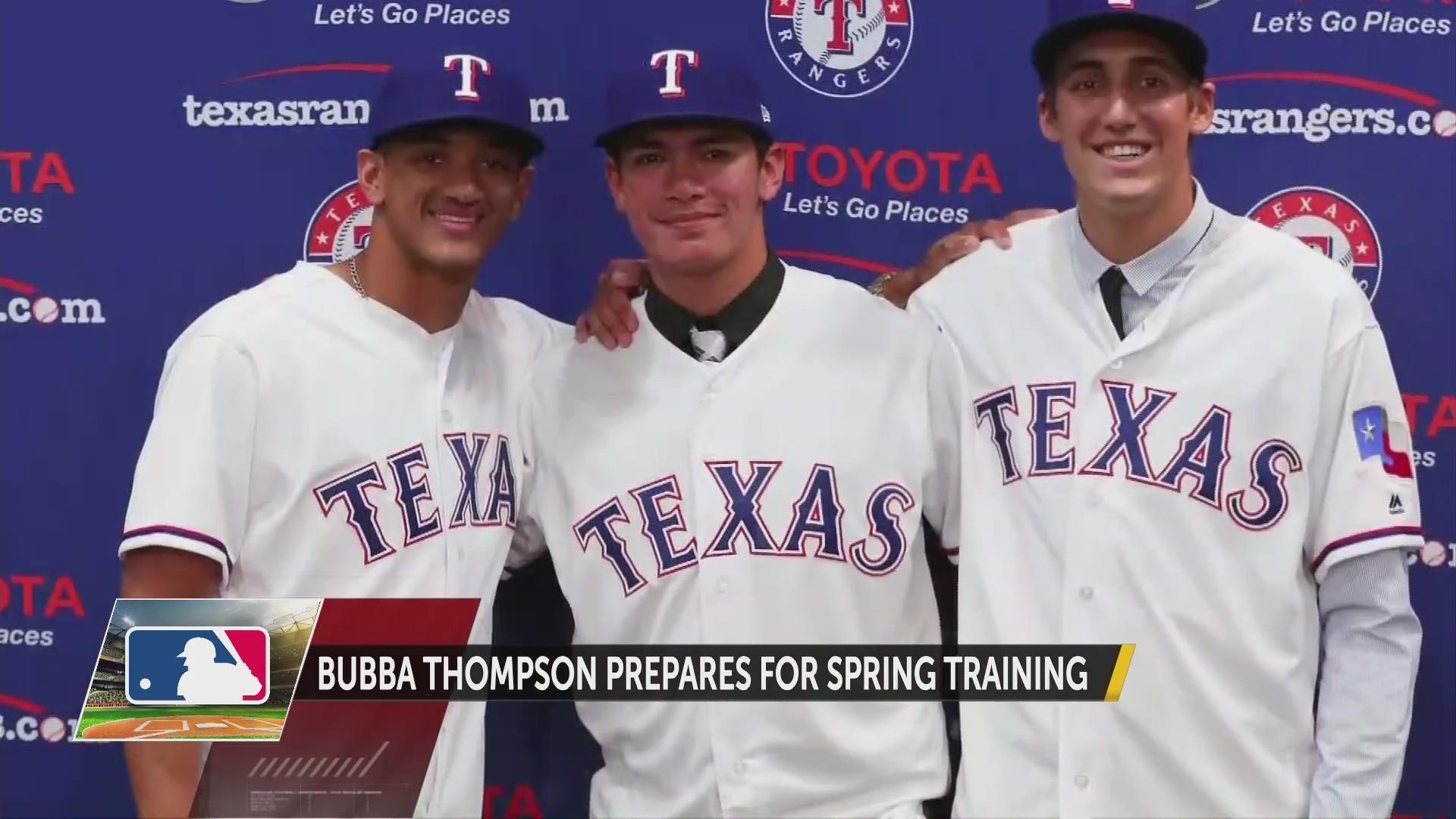 Bubba Thompson Prepares for Spring Training