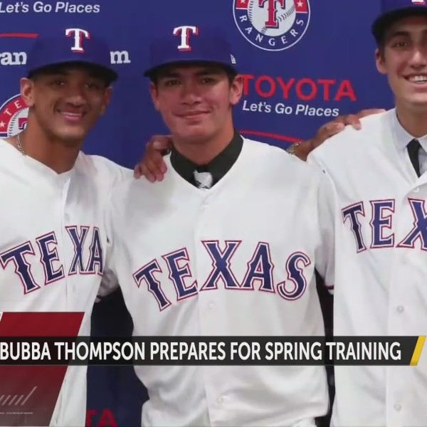 Bubba Thompson Prepares for Spring Training
