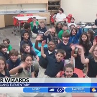 Hollinger's Island Third Grade with Chief Meteorologist Alan Sealls