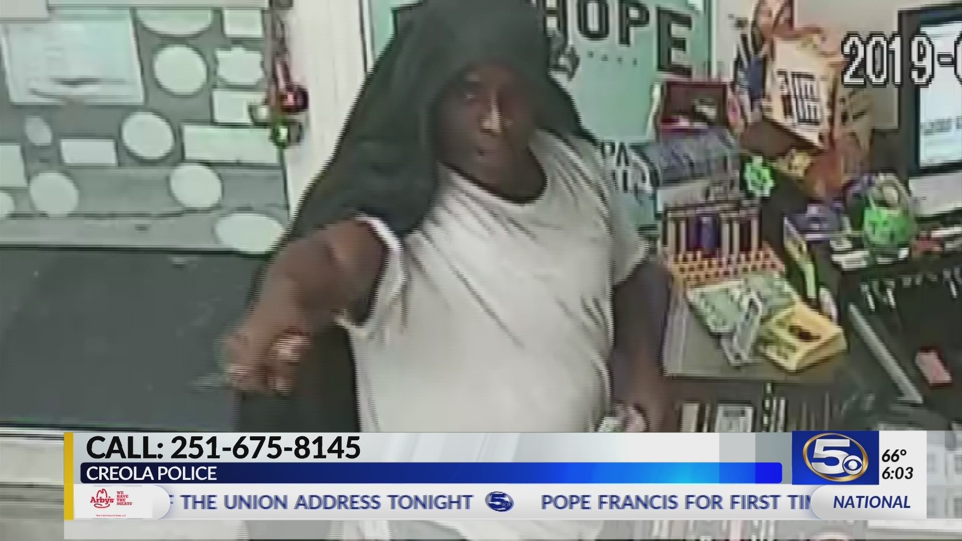 VIDEO: Creola Police seek help identifying robbery suspect