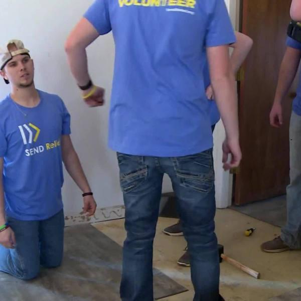Students use spring break to help repair areas effected by Hurricane Michael