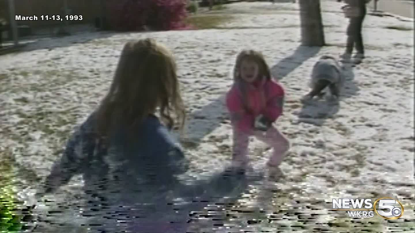 The Blizzard of 1993, in the Southeast
