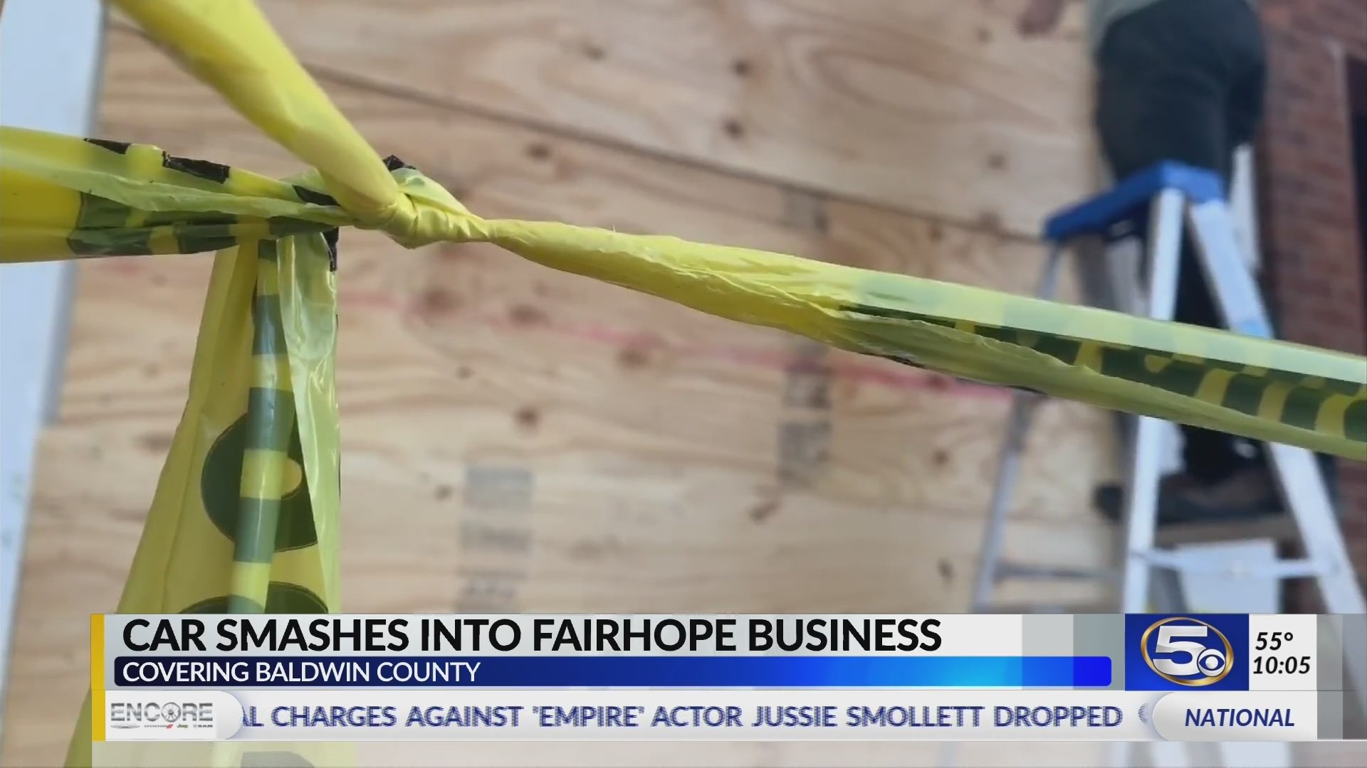 VIDEO: Car slams into downtown Fairhope business