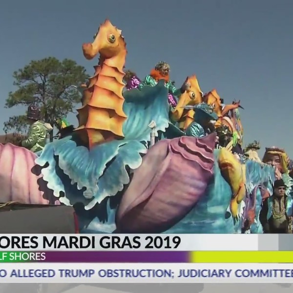 VIDEO: Gulf Shores kicks off full day of Baldwin County Mardi Gras