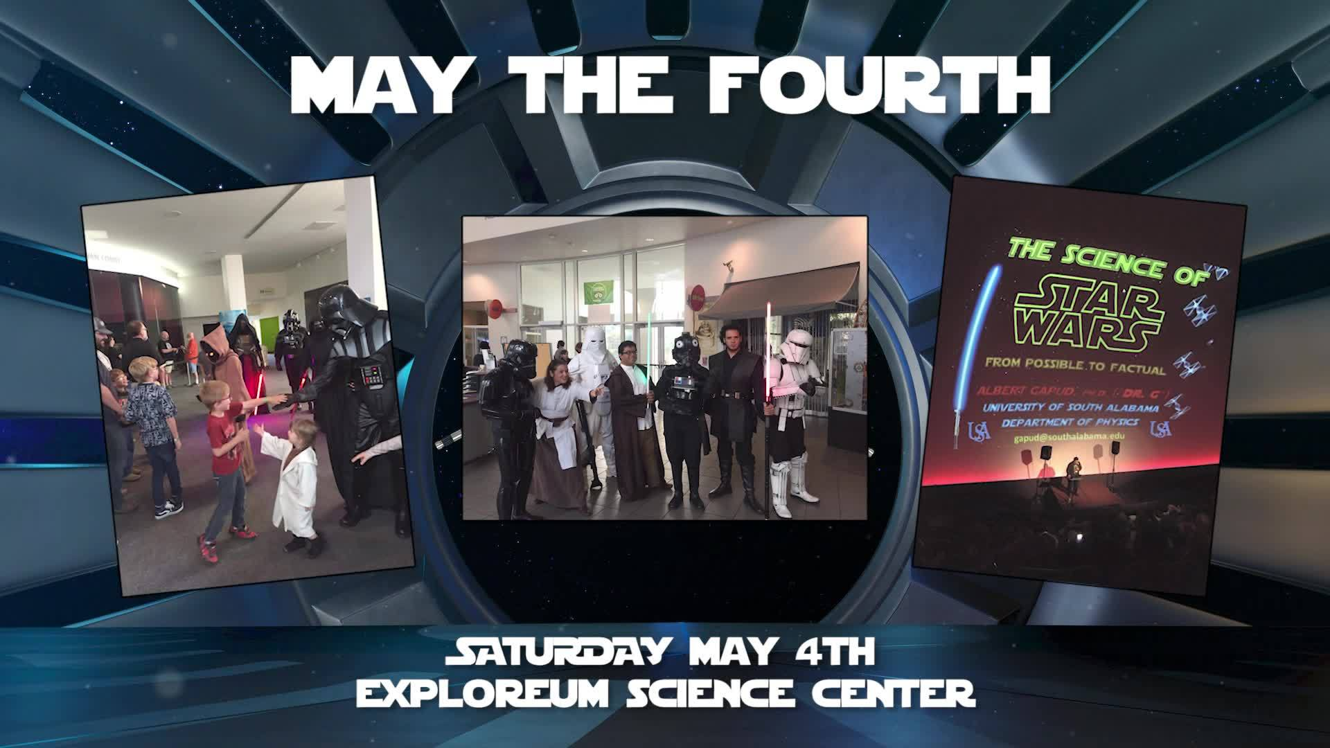 Join The Gulf Coast CW star, Tori B. for a Star Wars celebration at the Gulf Coast Exploreum. Mark your calendars and get your tickets in advance online.